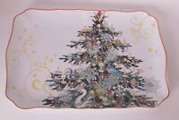 NIB Williams Sonoma Twas the Night Before Christmas Tree rectangular platter