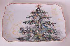 NIB Williams Sonoma Twas the Night Before Christmas Tree rectangular platter