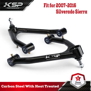 "Front Upper Control Arms for 2-4"" Lift for 2007-2016 Silverado Sierra 2WD 4WD"