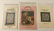 Lot (3) New Quilt Patterns   ( The Challenger, Blades  & Bow Tie)