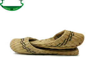 1 Pair Natural Palm Woven Slipper Handmade Straw Slipper Babouche Flip-Flops