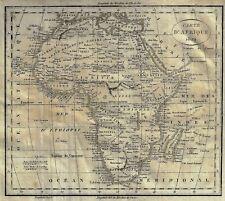 """Dufour's Fine Antique Map """"CARTE D'AFRIQUE, 1829"""" - Copper Engraving"""