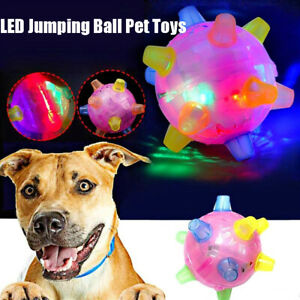 Jumping Flashing Dog Ball LED Dogs Toys Joggle Vibrating Changing Color For Pets