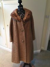 "Lady Stanley VINTAGE  WOOL Camel 1950's ORIGINAL SWING COAT  53"" Chest"