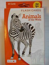 Educational/School Supplies: 36 Animals of the World Flashcards   Ages:4+