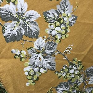 """William Sonoma Table Cloth 70"""" Round Provence? Mustard Ochre Yellow Floral Soft"""