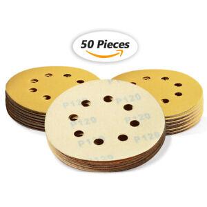 5in 120 Grit Sanding Discs Hook and Loop Sandpaper Dustless Orbital Sander Sheet
