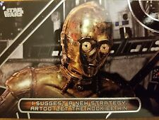 2017 Star Wars Galactic Files Reborn #MQ-11 C-3PO Famous Quotes NM-Mint