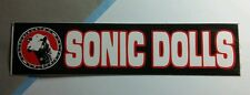 "SONIC DOLLS SHEEP B&W RED 1.24""x5.5"" MUSIC STICKER"