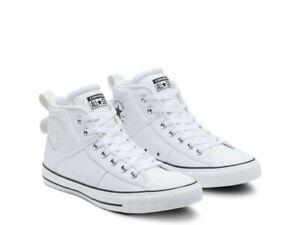 Converse CTAS CS Mid White Leather Shoes Men's 11.5 168728C