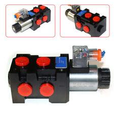 Hydraulic 6port Solenoid Diverter Selector Valve Hsv6 C 12v 13gpm 1 Spool 25mpa