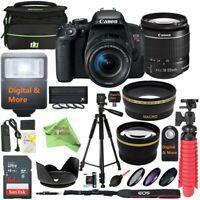 Canon T7i EOS Rebel DSLR Camera w/EF-S 18-55mm IS STM Lens & 32GB SD Card Bundle