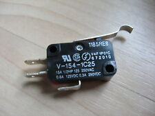 Omron Micro Limit Switch V 154 1c25 With Curved Tip Lever 15a 125250vac E66c