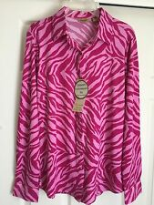 Women's Wrangler Shirt New With Tags Hot Pink Large Poly Blend Long Sleeves