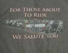Harley Davidson For Those About To Ride We Salute You 2XL Spykes T-Shirt