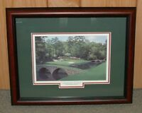 """Framed Augusta National golf print- 12th Hole MASTERS 13""""x16"""" overall size"""