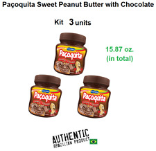 Pacoquita - Brazilian Sweet Peanut Butter with Chocolate - 5.29 oz (Pack of 3)