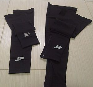 J2 Velosport Arm & Leg Warmers Set, Sizes M or L, Road Cycling, Cross, MTB