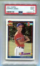 1991 Topps Chipper Jones RC #333 PSA 9 Mint Braves (HOF) B43925712