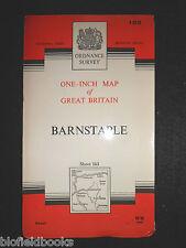 "Vintage Ordnance Survey 1"" Map - Barnstaple - 1967 - Sheet 163 - Devonshire"