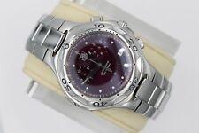 Tag Heuer CL1113.BA0700 Plum Red Kirium Watch SS Mens Chronograph Mint Crystal