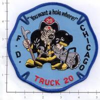 Illinois - Chicago Truck 20 IL Fire Dept Patch