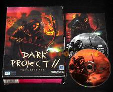 DARK PROJECT II 2 Pc Versione Italiana Big Box  ••••• COMPLETO