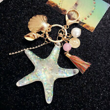 Cute Crystal Starfish Shell Key Chain Pendant Keyring Keychain Key Chains Gift
