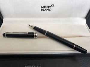 Montblanc Meisterstück Rollerball Kugelschreiber schwarz Silber Top Zustand!