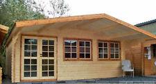 Gartenhaus Blockhaus Gerätehaus Holz  600x500cm, 40mm mit ISO Verglasung, 403912