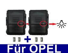 2x chassis Chiave Copertura per OPEL MERIVA CORSA C COMBO ASTRA + 4 xtaster