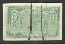 Queen Victoria - 2s - Green - Judicature Fees - Used - On Paper.