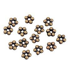 500 Perles Plastique Acrylique Bronze Fleur Accessoire 0.5x0.5cm