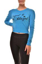 Wildfox Women's Dazed & Blazed Soft WVR987 6C8 Sweatshirt Blue S RRP £80 BCF89