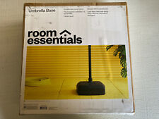 Room Essentials Square Resin Umbrella Base, Black - NEW