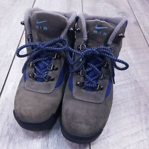 Nike ACG Outdoor Hiking Boots Women US 9.5 UK 7 Gray Blue Lace Up All-Trac