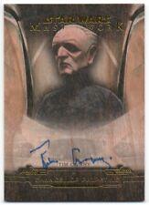 2019 Star Wars Masterwork Autographs Wood T Curry Chancellor Palpatine Auto /10