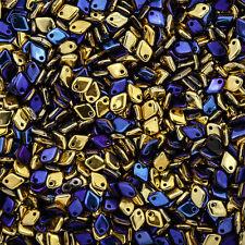 Dragon® Scale Jet California Blue Czech Glass Beads 9g Tube (M36/2)
