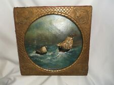 ANTIQUE NAUTICAL FOLK ART DIORAMA  PROVENCE FANTASTIC