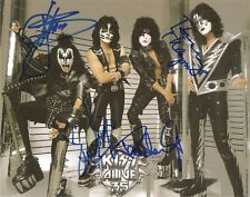 KISS GROUP SIGNED 8X10 ALIVE 35 TOUR GENE SIMMONS PAUL STANLEY ERIC SINGER T