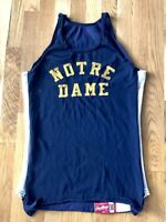 Vintage 1960's NOTRE DAME FIGHTING IRISH Durene Track Jersey Rawlings 38