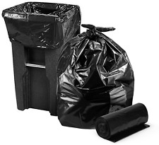 2 Mil Large Heavy Duty  Black Giant Durable Trash Garbage Bags 95 To 96 Gallon