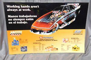 Counter Mat Sign, LOCTITE, PERMATEX, FAST ORANGE, WHIT BAZEMORE Funny Car RACING