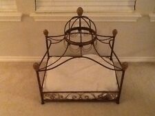 NEW Neiman Marcus fancy iron dome canopy dog cat bed*******HOUSTON TX BUYER ONLY