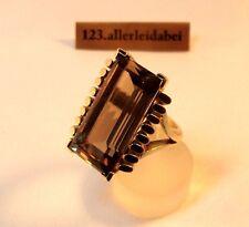 Opulenter Rauchquarz Ring 585 Gold 15,51 g Fingerring / AW 118