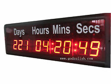 1.8'' LED Digital wall Clock Countdown Timer count down/up day display
