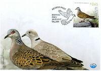 Estonia Birds on Stamps 2017 FDC Turtledove Bird of Year Pigeons Doves 1v Set