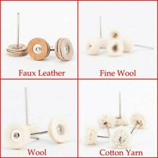 10 Pcs Polishing Buffing Wool Cotton Wheel Brush Drill Bits Rotary Rotating Tool