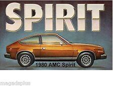 1980 AMC Spirit Auto Car  Refrigerator / Tool Box  Magnet Gift Card Insert