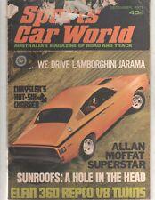 Sports Car World 1971 Dec Valiant Charger E38 Torana GTR XU1 Triumph Stag Elfin